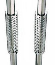 3.00 In Dia 20.00 Inch Long Chrome Exhaust Truck Stacks Shields