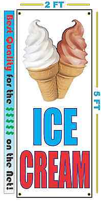 ICE CREAM NOW OPEN Banner Sign NEW Larger Size Best Quality for the $$$
