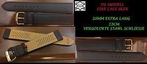 Echtes-DI-MODELL UHRENARMBAND  Echt Leder super Qualität braun 18mm