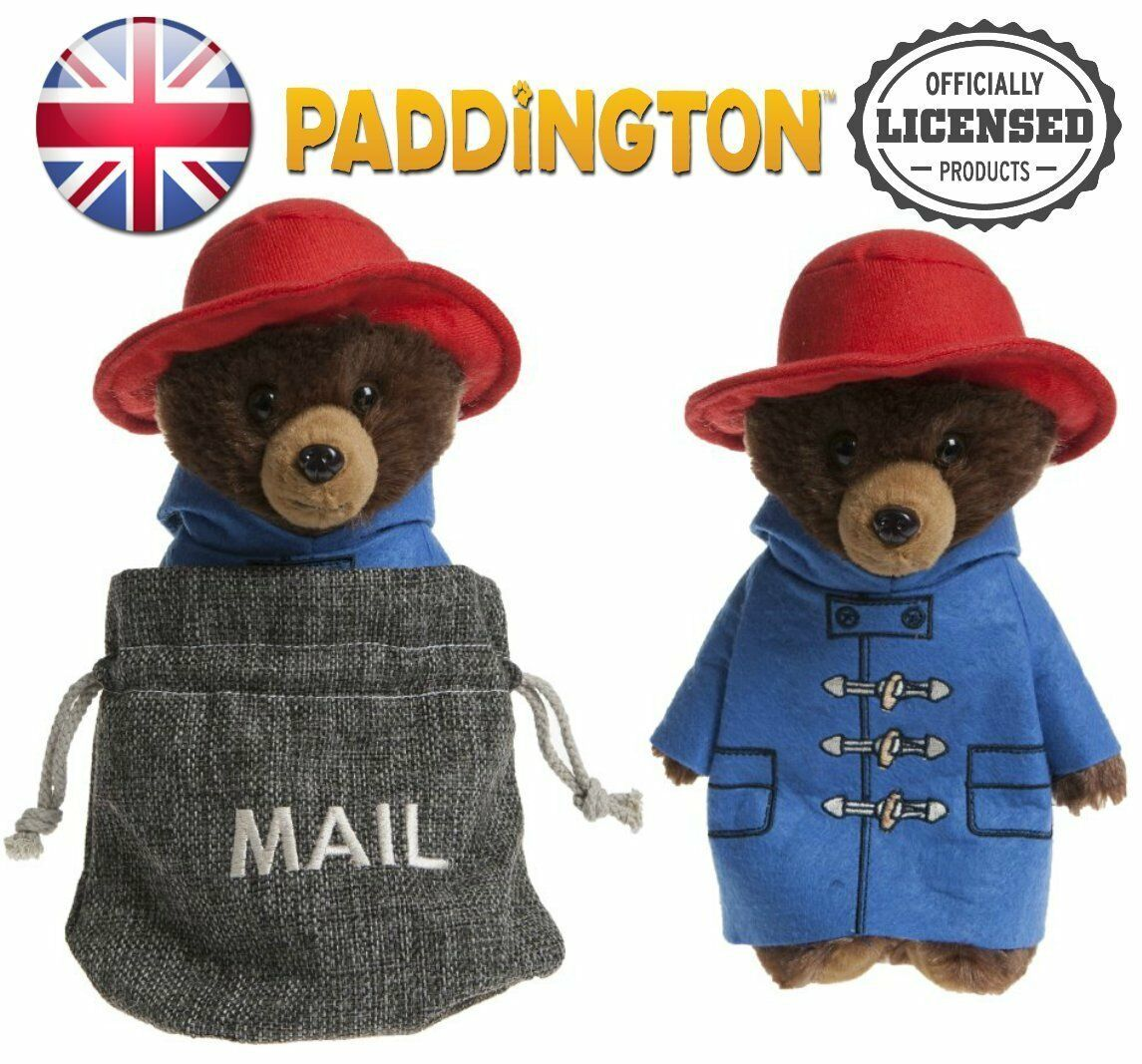 Set of 2 PADDINGTON BEAR MAIL BAG PLUSH TOY Kids Soft Plush Bear Teddy Toy Gift