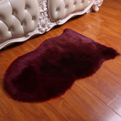 Luxury Faux Fur Sheepskin Area Rug Fluff Floor Rug Soft Home Shaggy Carpet