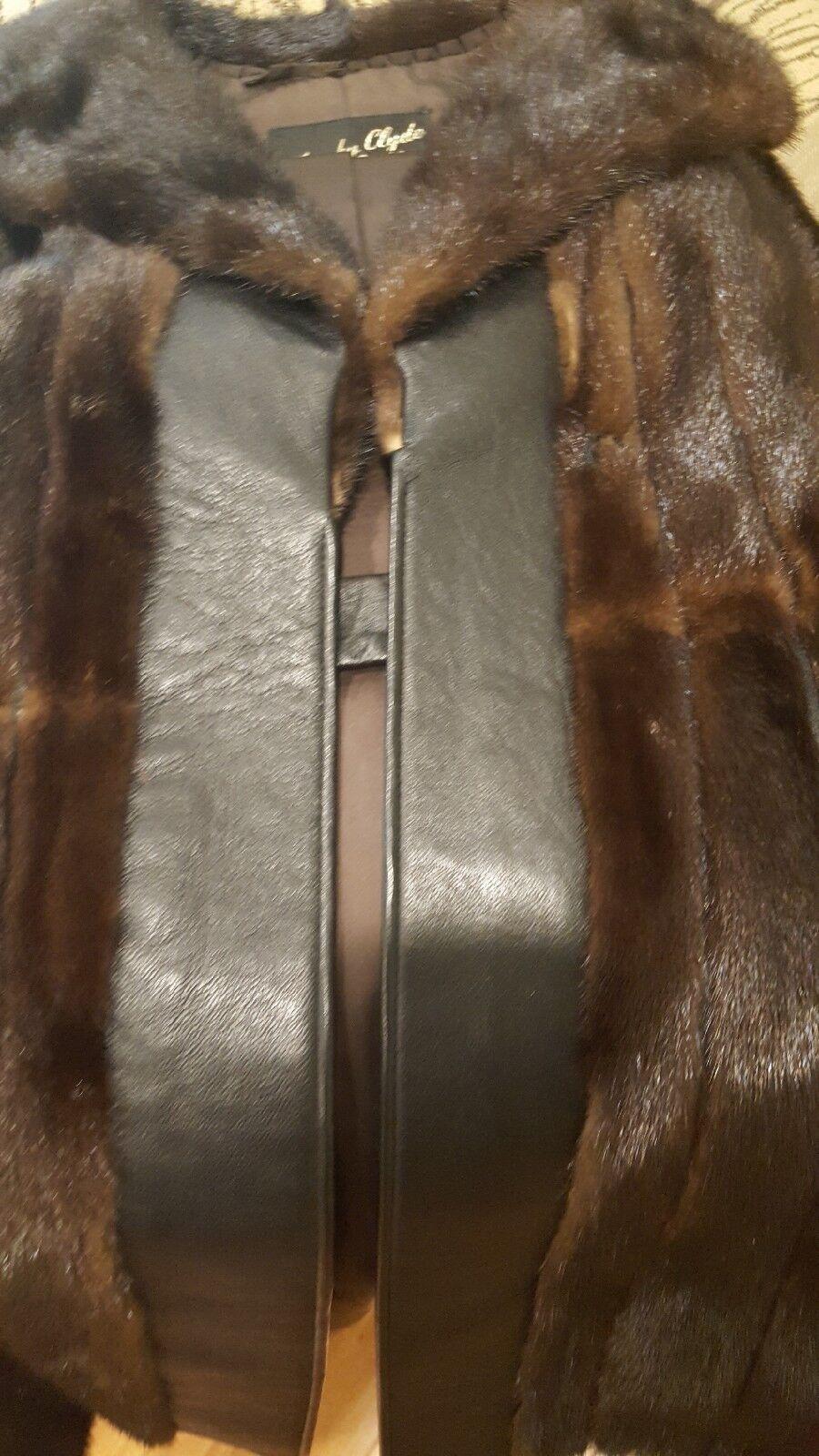 Used 50's Era Mink Leather And Fur Coat