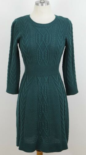 Women/'s Casual Cute Cable Flare A-line Vintage Inspired Sweater Dress MK3290