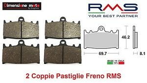 1150 - 2 CP Pastiglie Freno Ant. RMS per SUZUKI GSF 1250 Bandit S ABS dal 2012