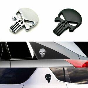 Emblema-Metal-Decal-Diablo-Craneo-Etiqueta-Engomada-Del-Coche-3D-Distintivo