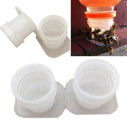 3Pcs Bee Water Feeder Set 27mm Beekeeping Drinking Cup Equipment White Supplies