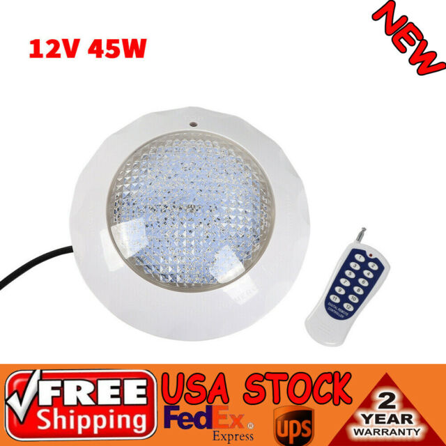 12V 45W Swimming Pool RGB LED Light Spa Underwater Lamp Remote Controller IP68