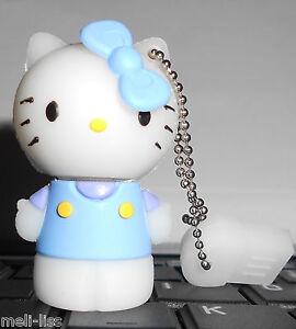 8 GB Rubber Blue Hello Kitty Memory Stick USB  Flash Drive - Brand New