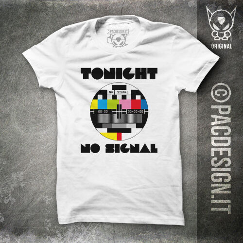 T-SHIRT TV NO SIGNAL VINTAGE 70 80 WHY SO MY HAPPINESS