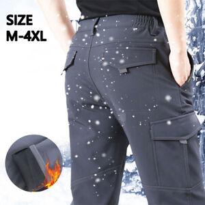 00ebd30aab2 New Men Winter Fleece-Lined Waterproof Outdoor Ski Pants Windproof ...
