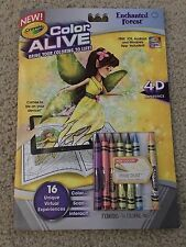 NEW Crayola Color Alive Enchanted Forest Coloring Book 4D Experience