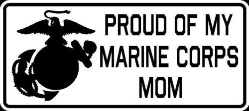 Proud of My Marine Corps Mom Vinyl Car Window Decal Bumper Sticker US Seller