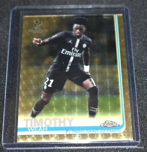 2018-19-Topps-Chrome-Uefa-Champions-League-SUPERFRACTOR-92-Timothy-Weah-1-1