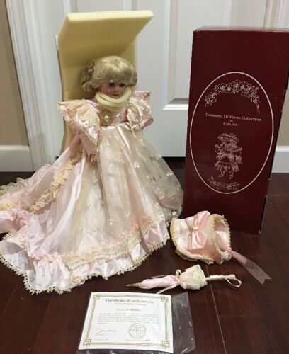 "Treasured Heirloom By Kais Carissa 18 12"" All Porcelain Doll By Janis Berard"