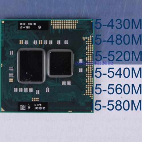 Intel Core i5-430M i5-480M i5-520M i5-540M i5-560M i5-580M Socket G1 CPU