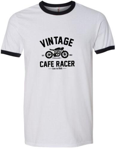 Moto Road Racing CAFE RACER Design T-shirt IOMTT toutes tailles Classique