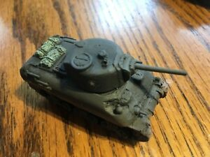 Details about 1/100th (15mm) WWII US Painted M4A1 Cast-Hull Sherman Tank  Model