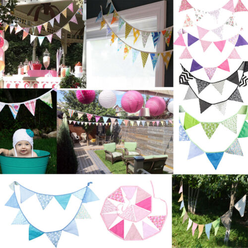 Romantic Wedding Kid Birthday Party Room Garden Flag Banner Bunting Decorations