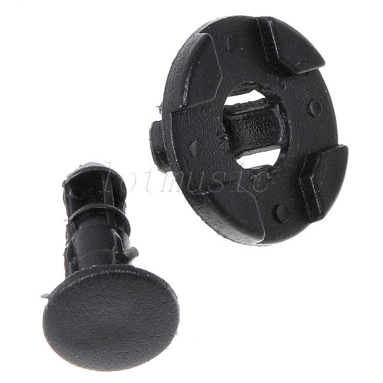 50 Pcs 8mm Hole Plastic Rivet Fastener Bumper Push Clips