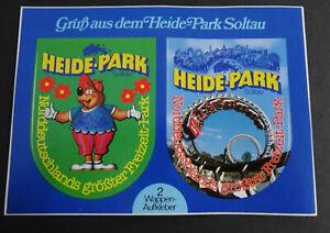 Fan-Aufkleber Big Loop Roller Coaster Matzi Bear Gruß Heide-Park Soltau Postcard