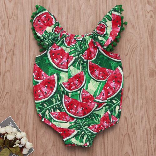 Newborn Baby Girls Summer Romper Bodysuit Jumpsuit Sunsuit Outfits Clothes UK