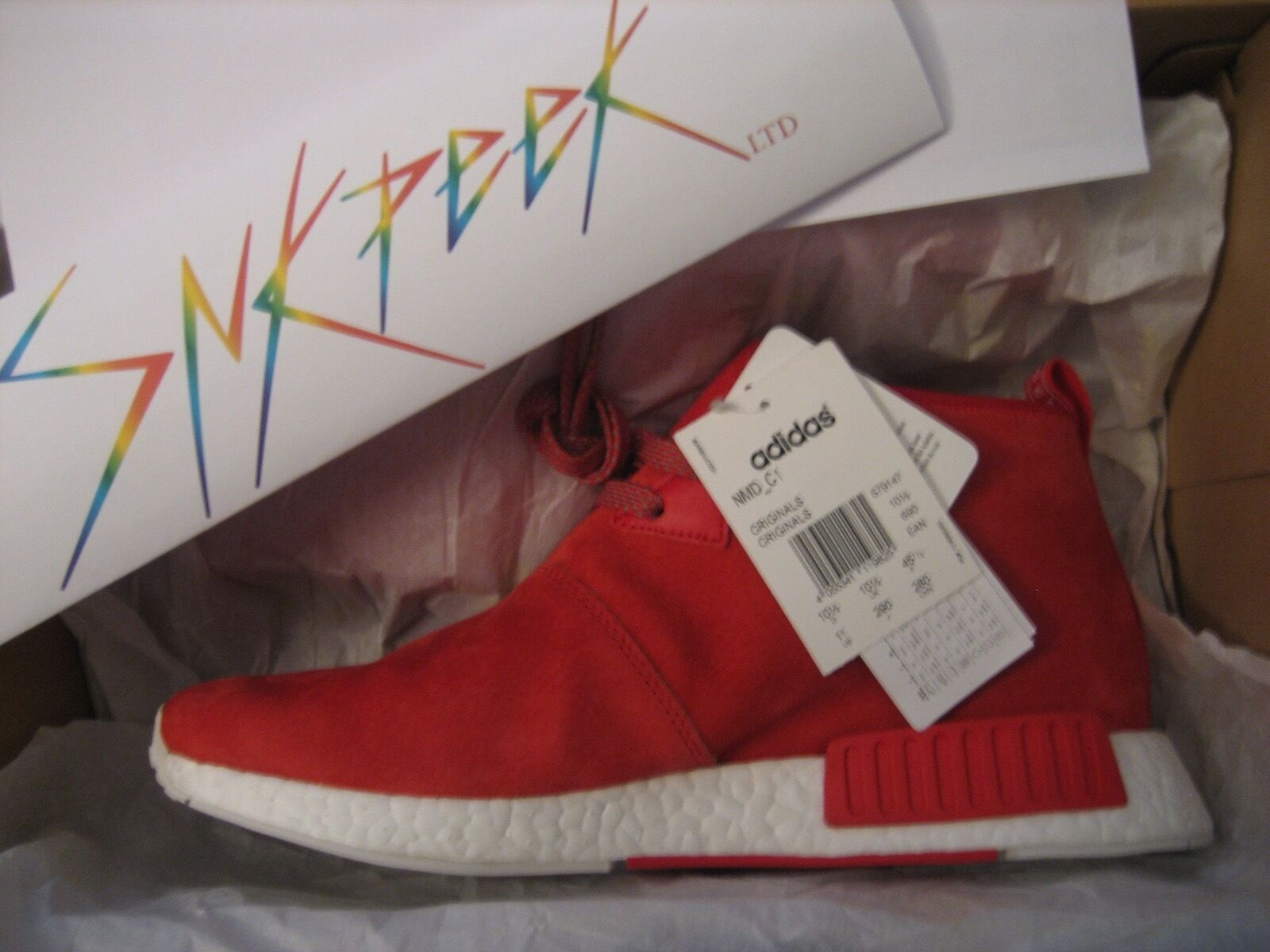 New  Adidas NMD C1 Chukka Lush Red Red Red S79147 Nomad Boost w Receipt Rare DS  a48e6d