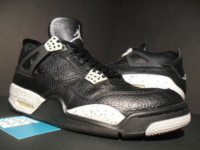 NIKE AIR JORDAN IV 4 RETRO LS OREO BLACK TECH GREY CEMENT BRED 314254-003 10.5