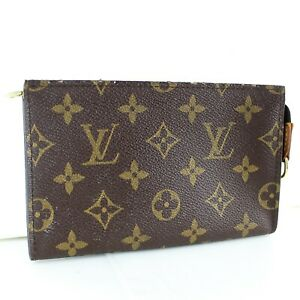 LOUIS-VUITTON-Mini-Pouch-for-BUCKET-PM-Purse-Monogram-Brown