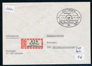 11040) Spécial R-ticket De Göttingen Schiffspost Postsache Sst 7.11.71-afficher Le Titre D'origine