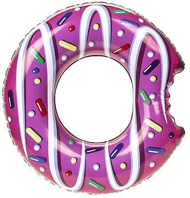 Inflatable Swim Ring Donut Design Safe Water Equipment Fun Raft Float Pool