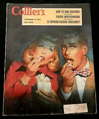 Collier's Magazine November 16 1946 FOOTBALL - BUMSTEADS - JOSH WHITE - ARTIC -
