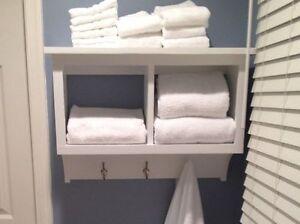 Bathroom Towel Cubby Wall Shelf Storage Display Ebay