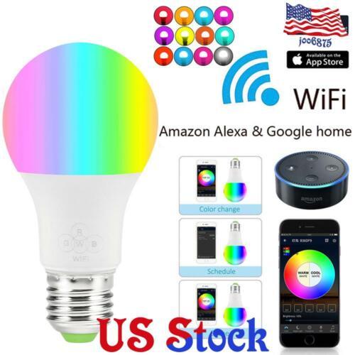 Remote Control RGB LED Wifi Smart Light Bulb 4.5W E27 Timing Switch Delay Switch