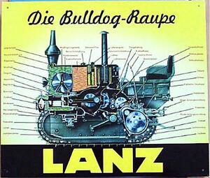lteres blechschild traktor schlepper lanz bulldog raupe. Black Bedroom Furniture Sets. Home Design Ideas