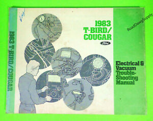 1983 Ford Thunderbird Mercury Cougar Electrical Wiring ...