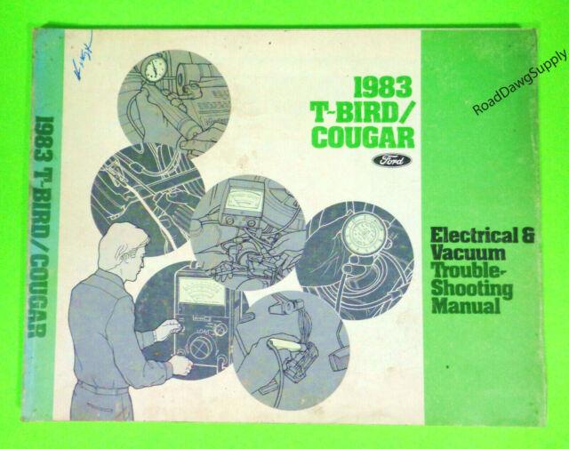 1983 Ford Thunderbird Mercury Cougar Electrical Wiring Diagrams Service Manual