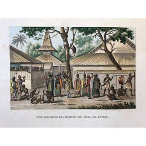 Voyage-autour-du-monde-DUPERREY-1826-Fete-religieuse-des-habitants-de-Caieli
