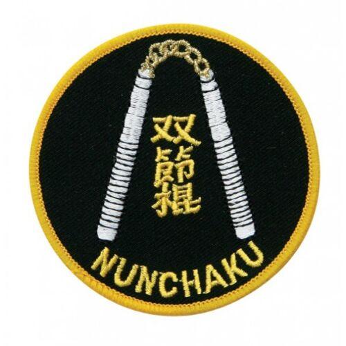 "Nunchucks Martial Arts Patch 3/"" P1193"