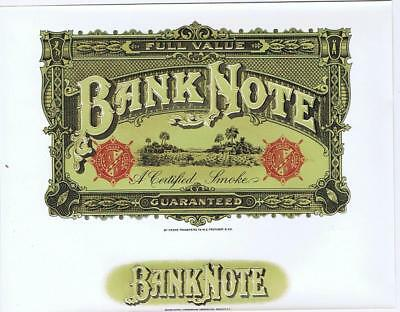 Banknote currency 1930/'s original  inner cigar box label