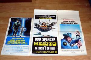BUD-SPENCER-N-3-LOCANDINA-UNO-SCERIFFO-CHISSA-039-PERCHE-039-UN-ESERCITO-DI-5-UOMINI