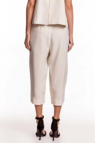 Ivory Pants NEW Camilla and Marc Chaise Trousers Light White