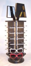 Black Wood Sunglass Display Spin Counter Rack Glasses Triangle 18 Pair