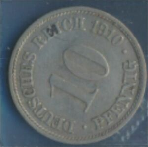 German-Empire-Jagernr-13-1910-G-extremely-fine-Copper-Nickel-1910-10-Pf-7848939