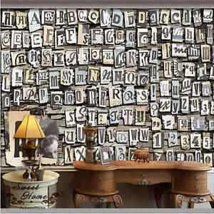 3d letters numbers symbol wallpaper full wall mural photo for Home wallpaper ebay