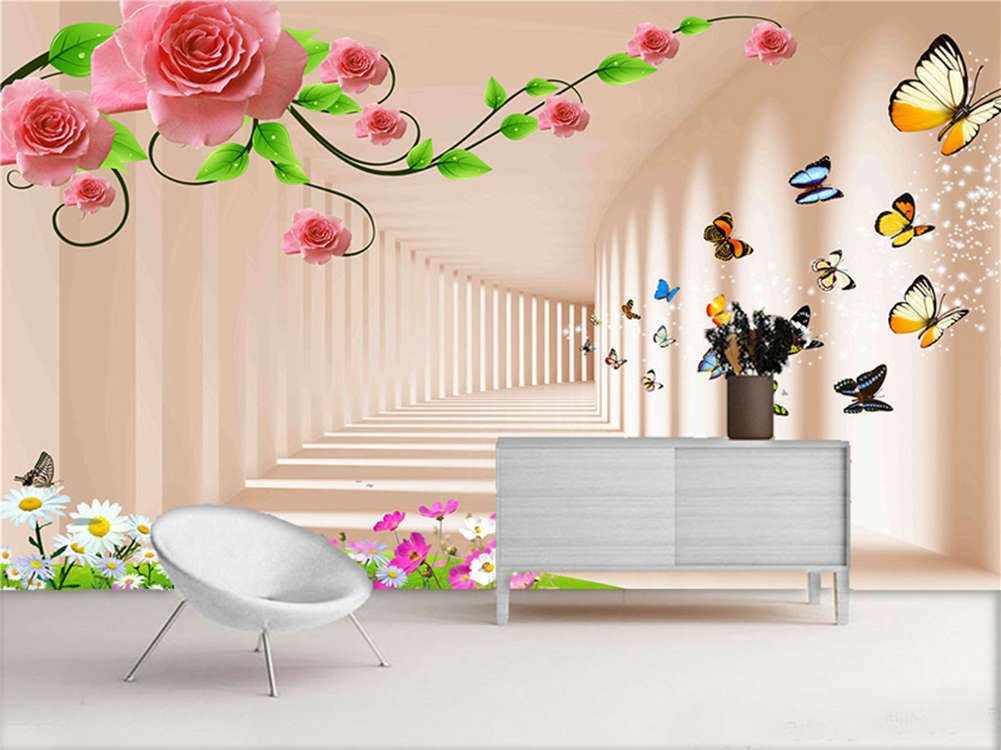 Normal Pulpy Peach 3D Full Wall Mural Photo Wallpaper Printing Home Kids Decor