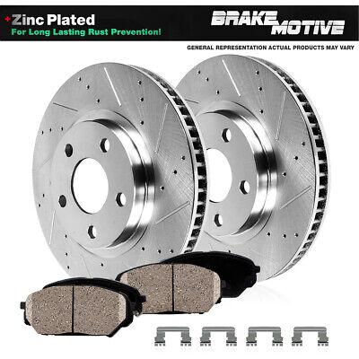 POSI QUIET Ceramic Pads BPK56253 FRONT PREMIUM Drill Slot Brake Rotors