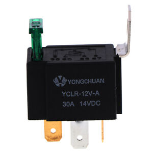 12V-30A-Car-4-Pin-Normally-Open-Contacts-Fused-On-Off-Relay-With-Metal-BrackWFI