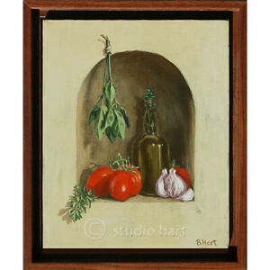Where's the Pasta-Original Oil Painting on Canvas-Still Life-Realistic Art-Frame