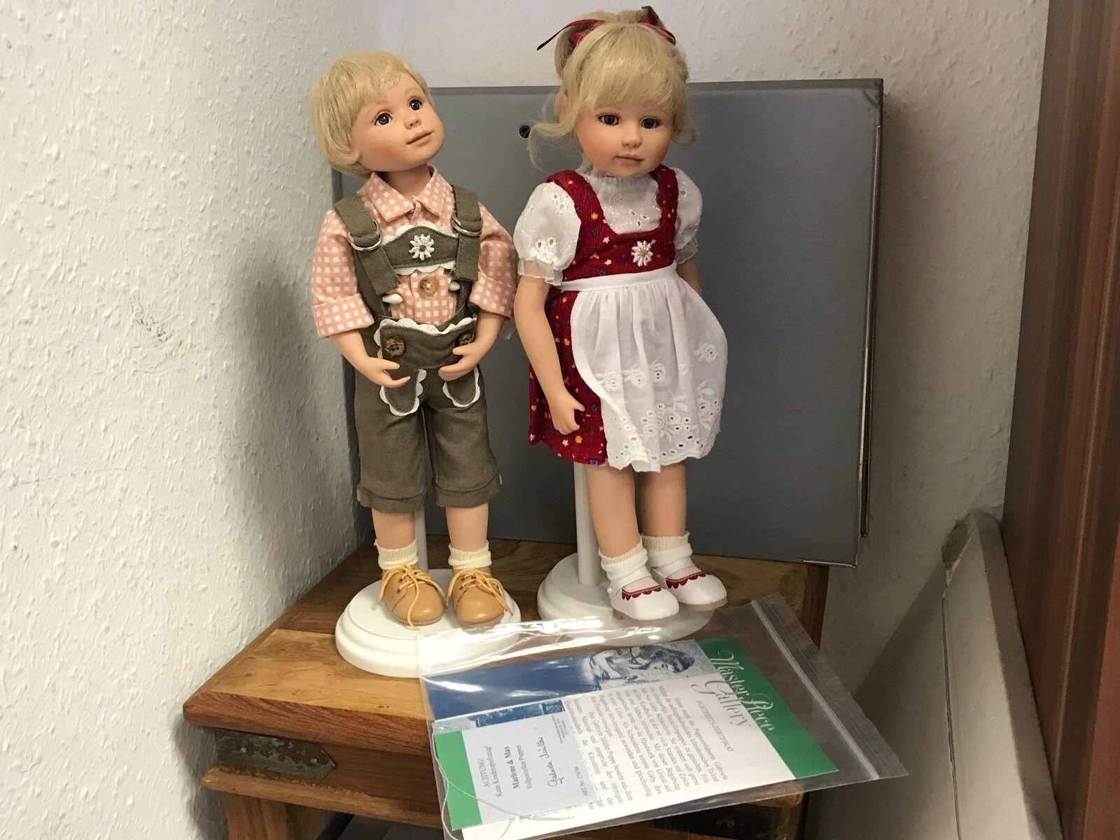 Gabriele Müller Porzellan Porzellan Porzellan Puppen Marlene & Max 30 cm. Top Zustand 94e6d8