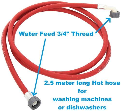 Hotpoint machine à laver eau chaude Pipe Inlet Fill Flexible 2.5 M